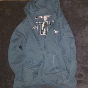 GUC--VS Pink full zip logo hoodie